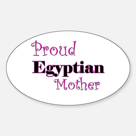 Proud Egyptian Mother Oval Decal