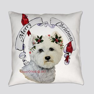 A Very Westie Christmas Everyday Pillow