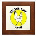 Tastes Like Ayam Framed Tile