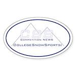 CollegeSnowSports.com Sticker (Oval)