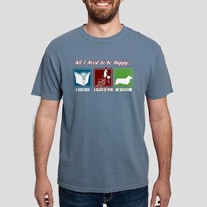 Book, Wine, Dachshund Mens Comfort Colors Shirt