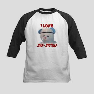 I LOVE JIU-JITSU (TEDDY BEAR) Kids Baseball Jersey