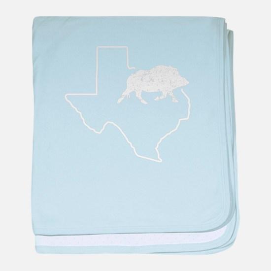 Feral Hogs Javelina Hog Texas Wild Bo baby blanket