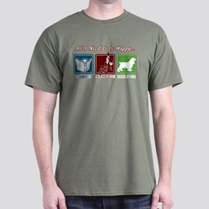 Book, Wine, Cocker Spaniel Dark T-Shirt