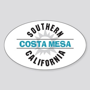 Costa Mesa California Sticker (Oval)
