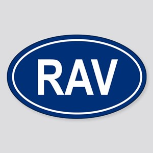 RAV Oval Sticker