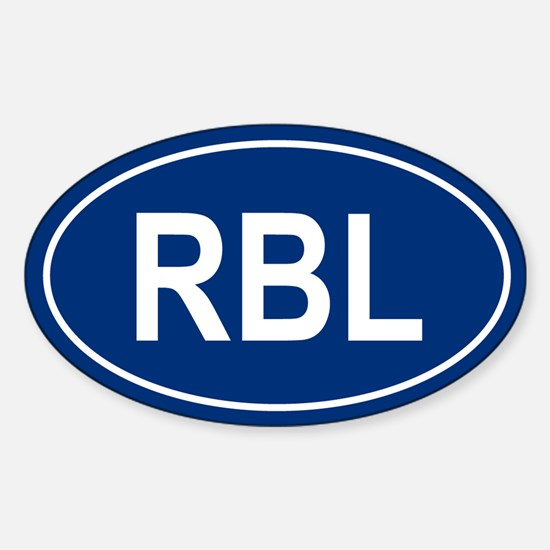 RBL Oval Decal