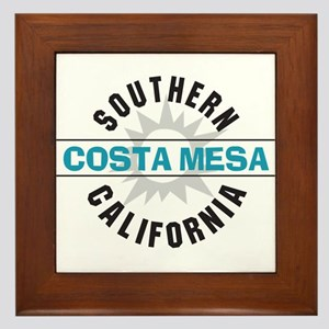 Costa Mesa California Framed Tile