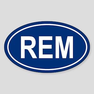 REM Oval Sticker
