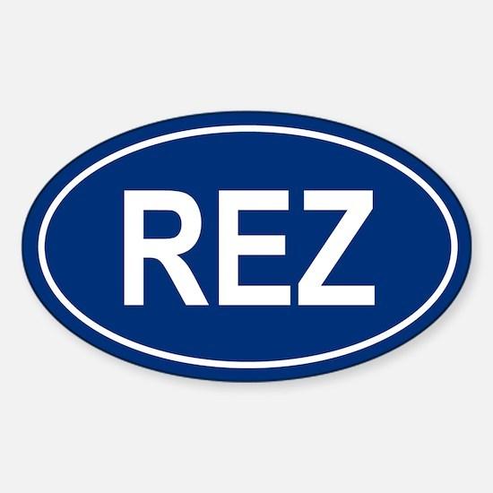 REZ Oval Decal