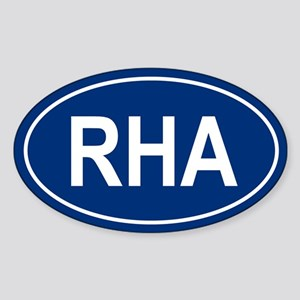 RHA Oval Sticker