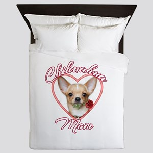 Valentines Chihuahua Queen Duvet