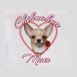 Valentines Chihuahua Throw Blanket