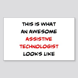 awesome assistive technologist Sticker (Rectangle)