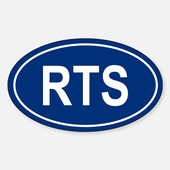 RTS Oval Bumper Stickers