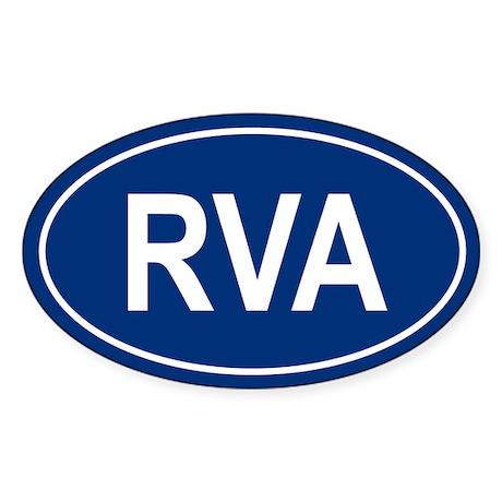RVA Oval Sticker