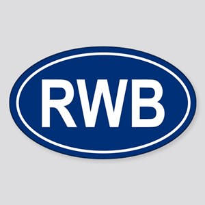 RWB Oval Sticker