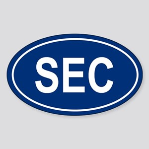 SEC Oval Sticker