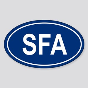 SFA Oval Sticker