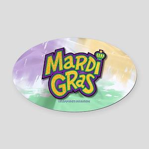 Mardi Gras Oval Car Magnet