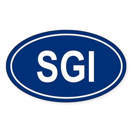 SGI Oval Sticker