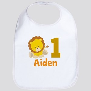 Lion Birthday Baby Bib
