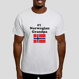 #1 Norwegian Grandpa Light T-Shirt