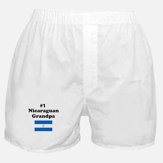 #1 Nicaraguan Grandpa Boxer Shorts
