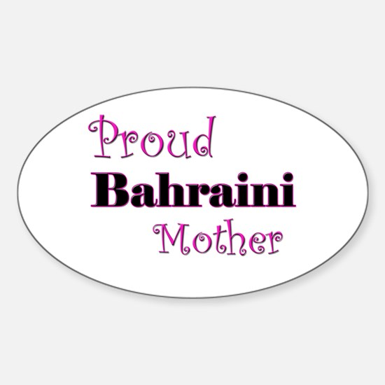Proud Bahraini Mother Oval Decal