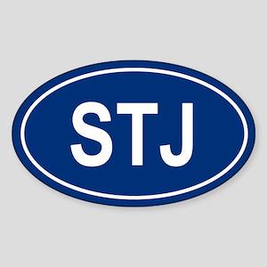 STJ Oval Sticker