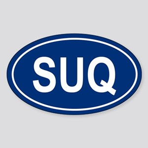 SUQ Oval Sticker