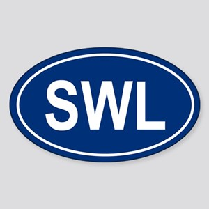 SWL Oval Sticker
