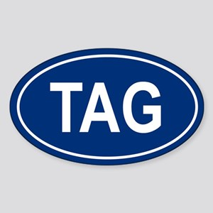 TAG Oval Sticker
