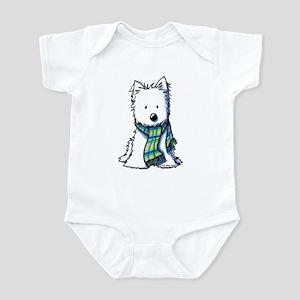 Plaid Scarf Westie Infant Bodysuit