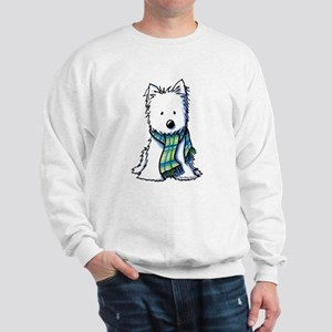 Plaid Scarf Westie Sweatshirt
