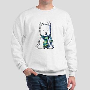 Plaid Scarf Westie Sweatshirt