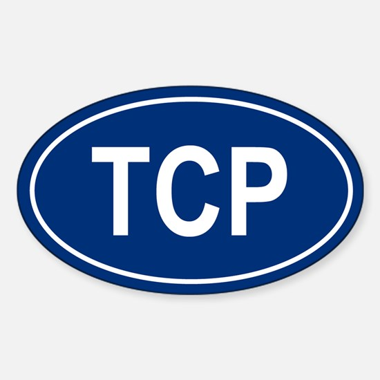 TCP Oval Decal