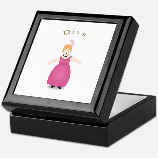 Strawberry Blond Diva in Rose Dress Keepsake Box