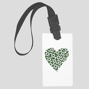 Ace Shamrock Heart Large Luggage Tag