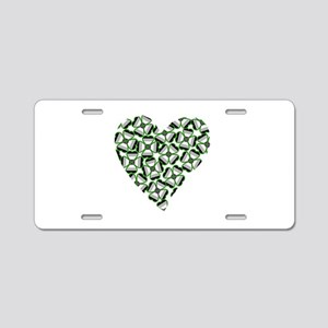 Ace Shamrock Heart Aluminum License Plate