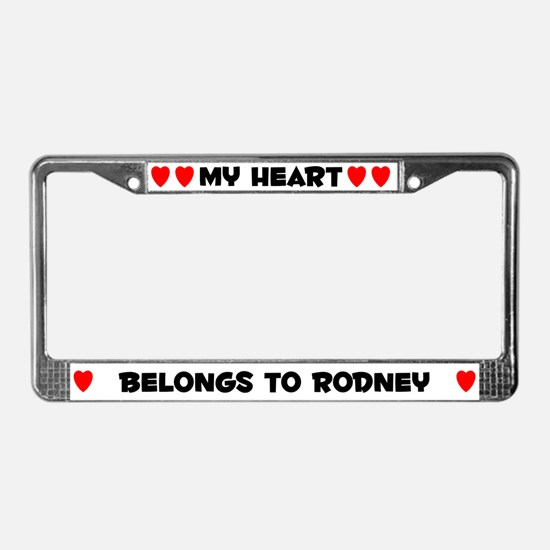 My Heart: Rodney (#004) License Plate Frame