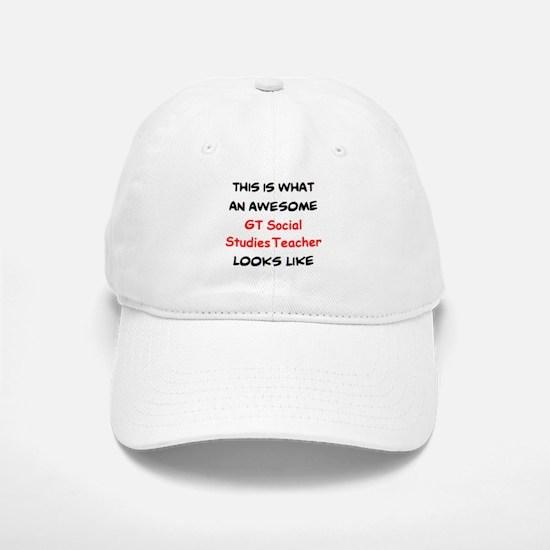 awesome gt social studies Baseball Baseball Cap
