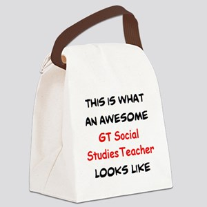 awesome gt social studies Canvas Lunch Bag