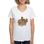Gold Cows Women's V-Neck T-Shirt