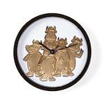 Gold Cows Wall Clock