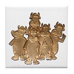 Gold Cows Tile Coaster