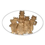 Gold Cows Sticker (Oval)