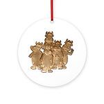 Gold Cows Ornament (Round)