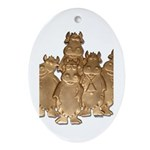 Gold Cows Ornament (Oval)