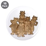 """Gold Cows 3.5"""" Button (10 pack)"""